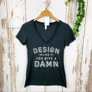 Design Like You Give a Damn Charcoal Fitted Tee M